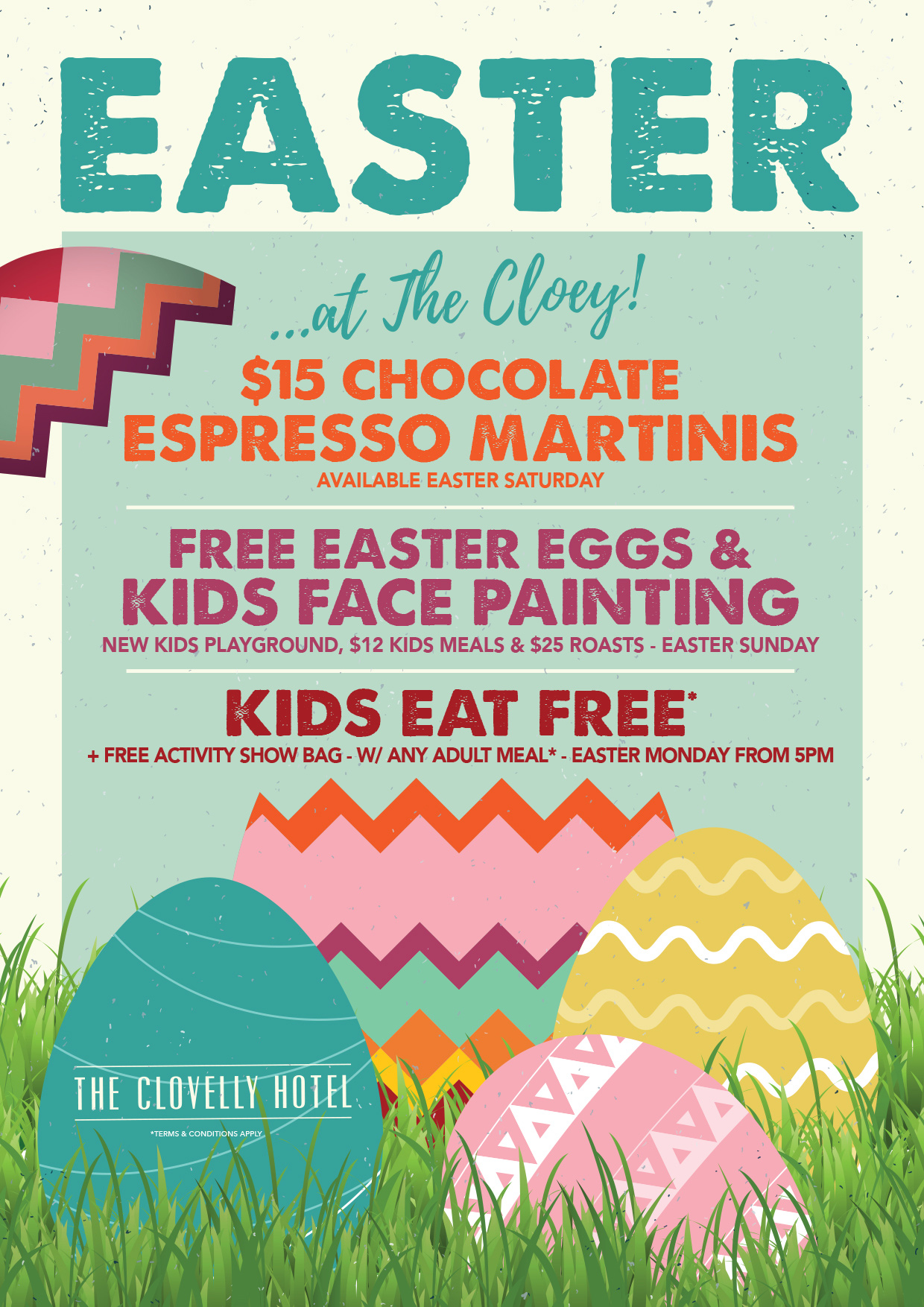Easter Activities all Long Weekend at the Cloey