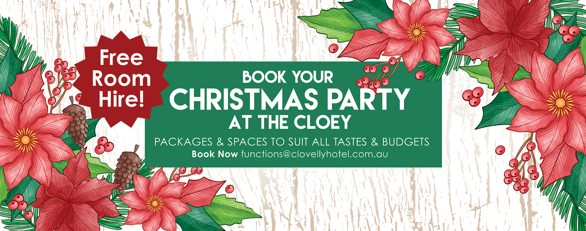 Christmas Parties at the Cloey