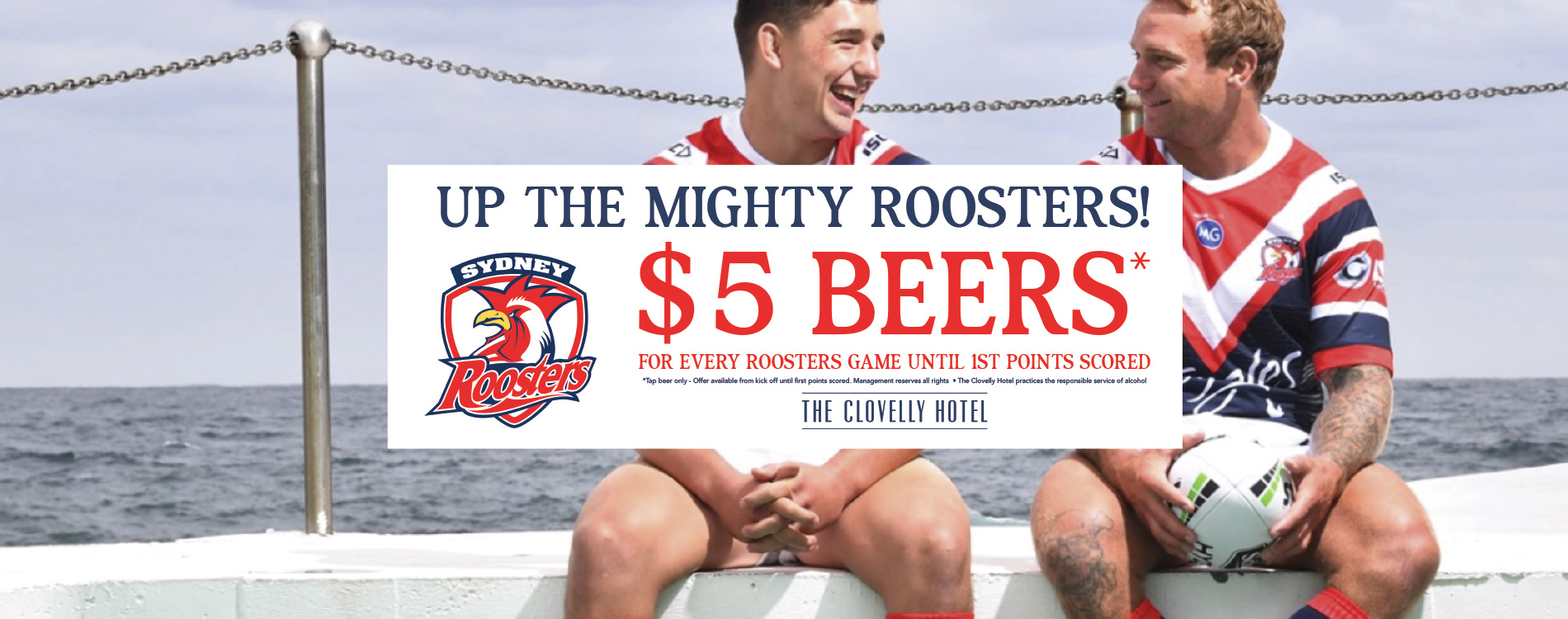 $5 beers until first points are scored at Roosers matches