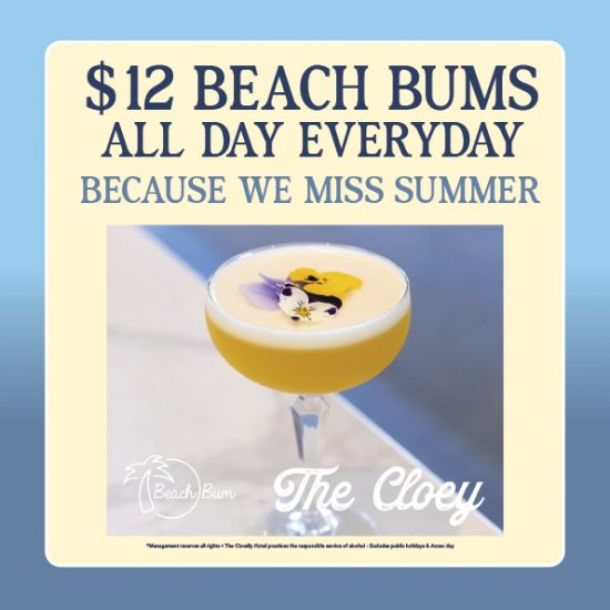 $12 Beach Bums - all day - everyday